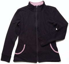 Blue Canoe Organic Cotton Jacket C777, Black/Mauve, Small