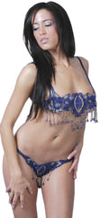 Women's Organza Beading Bra and G-string Set #DW03