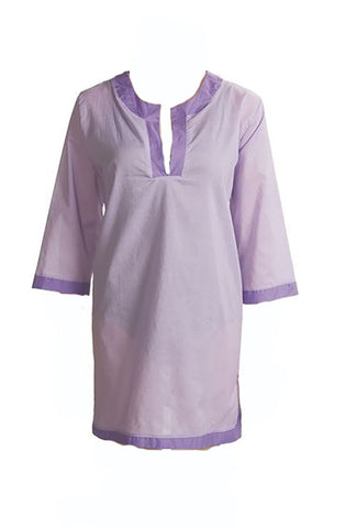 Isaac Mizrahi Live Tunic Cover-Up 913, Purple, Size M