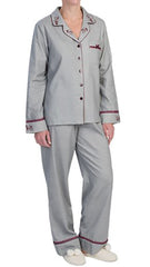 KayAnna Herringbone Cotton Flannel Pajamas Long Sleeve #13957