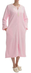 KayAnna Powder Velour Robe with Full Zip, Long Sleeve #13832