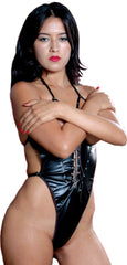 Women's Faux Leather Teddy #L003/x