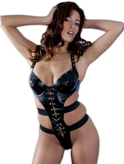 Women's Faux Leather Teddy #L007