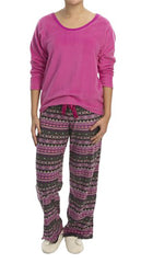 Midnight by Carole Hochman Microfleece Pajama Set #1591072