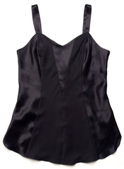 Shirley McCoy Silk Charmeuse Camisole SM101, Black, L