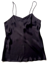 Shirley McCoy Silk Charmeuse Camisole SM102, Black, L