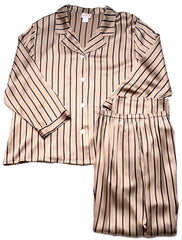 Shirley McCoy Silk Charmeuse Classic Long Pajama Pant Set SM209J