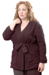 Women's Plus Size Polar Fleece Short Cardigan #3055X