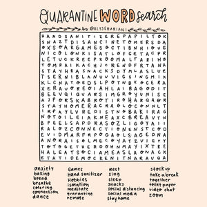 Quarantine Word Search Digital Download