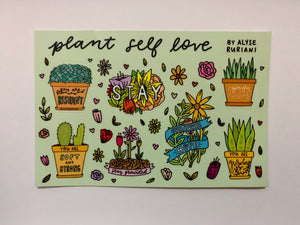 Plant Self Love Sticker Sheet