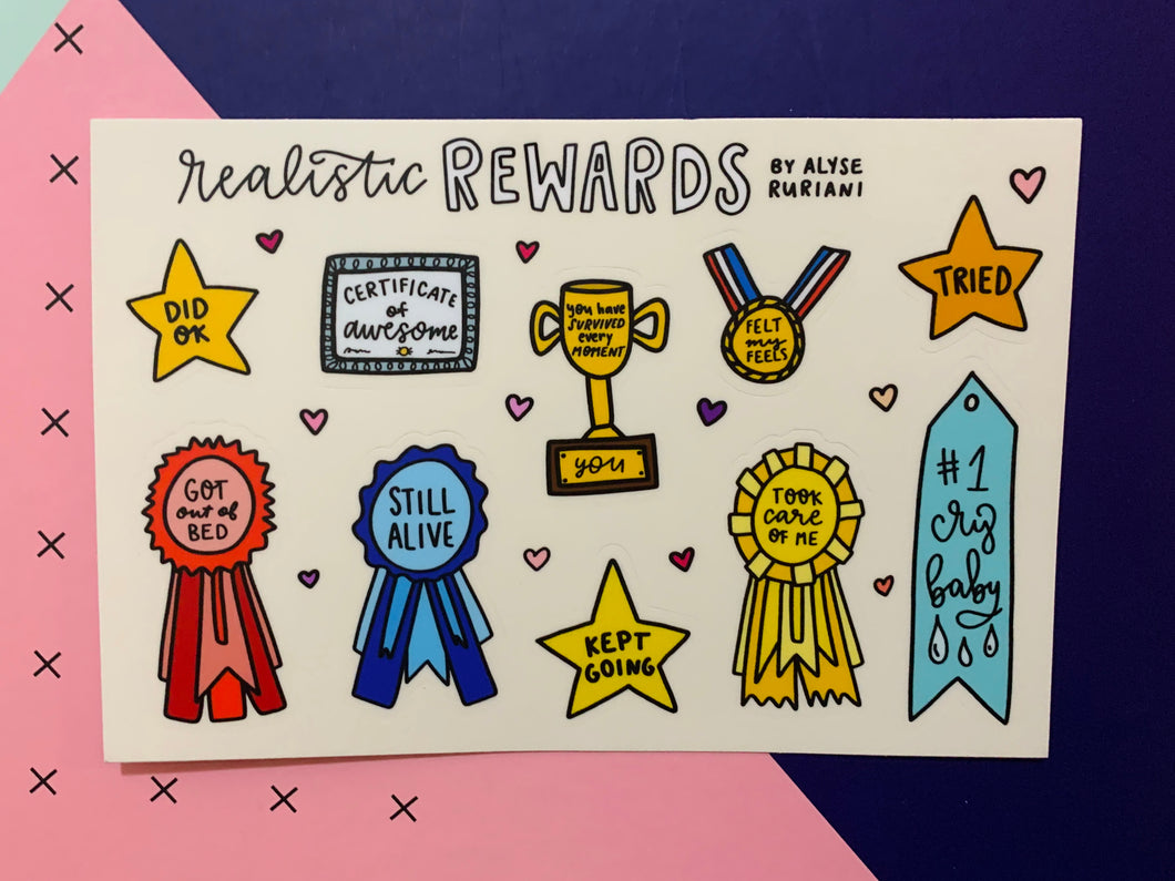Realistic Rewards Sticker Sheet