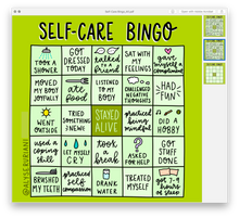 Load image into Gallery viewer, Self Care Bingo: Digital Download