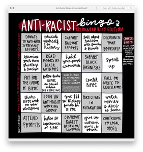 Anti-Racist Bingo: Accountability Edition (Digital Download)