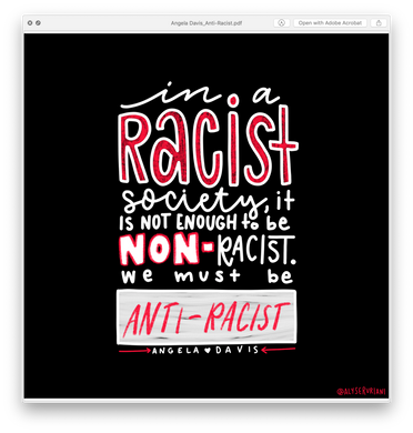 Anti-Racism: Angela Davis Quote (Digital Download)