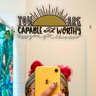 You Are Capable Clear Sticker