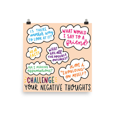Challenge Negative Thoughts Print