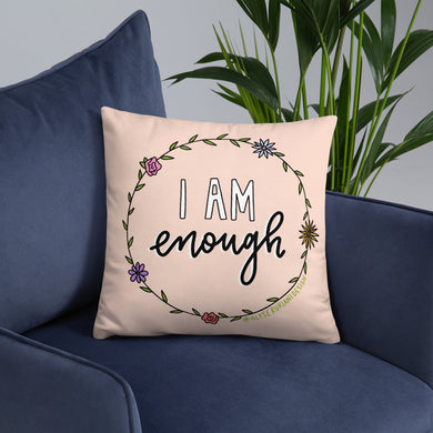 I Am Enough Throw Pillow