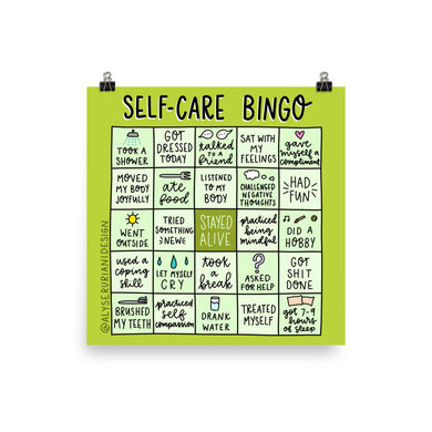 Self Care Bingo Poster