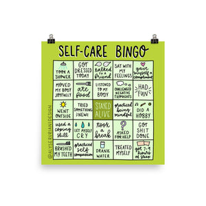 Self Care Bingo Print