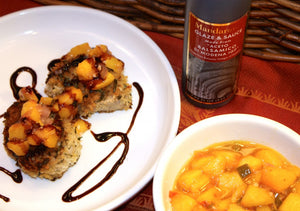 Pork Medallions and Peach Chutney with Balsamic Glaze