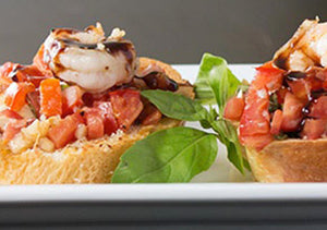 Grilled Shrimp Bruschetta with Mandarano Balsamic