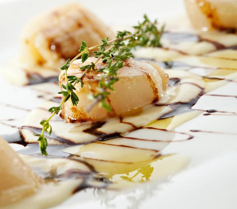 Scallops with Mandarano Gold Balsamic
