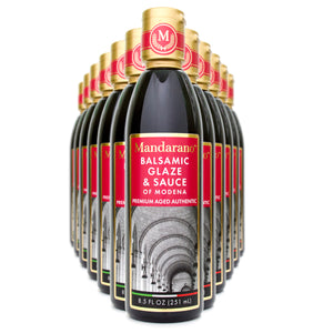 Mandarano Balsamic Glaze & Sauce Case of 12 Case - Aged 5 Years - Free Shipping