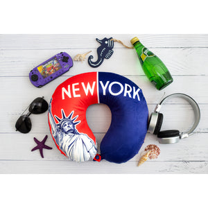 World Edition Memory Foam Travel Neck Pillow - New York II