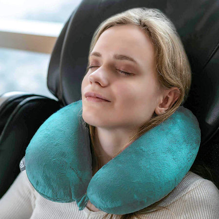 Classic Memory Foam Travel Neck Pillow - Mint