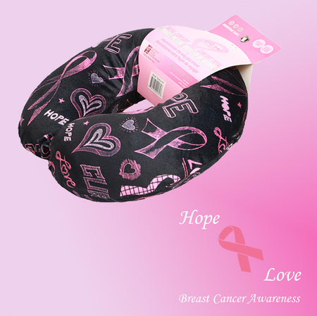Breast Cancer Awareness Memory Foam Travel Neck Pillows