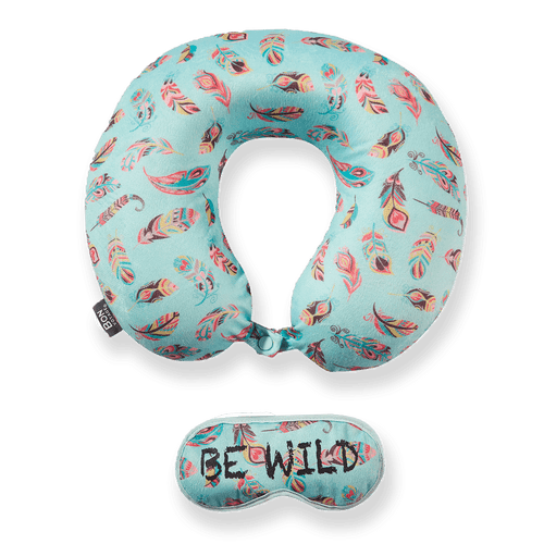 Eye Mask Memory Foam Travel Neck Pillow - BE WILD
