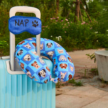 Load image into Gallery viewer, Eye Mask Travel Pillow - Dog Nap, Printed Memory Foam U-Shape Neck Pillow Dreamin