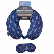 Load image into Gallery viewer, Eye Mask Travel Pillow - Dream In, Printed Memory Foam U-Shape Neck Pillow