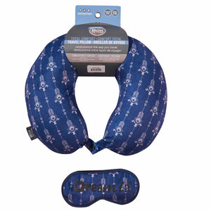 Eye Mask Travel Pillow - Dream In, Printed Memory Foam U-Shape Neck Pillow