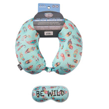 Load image into Gallery viewer, Eye Mask Memory Foam Travel Neck Pillow - BE WILD
