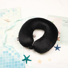 Load image into Gallery viewer, Classic Memory Foam Travel Neck Pillow - Black