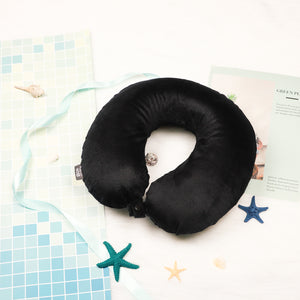 Classic Memory Foam Travel Neck Pillow - Black
