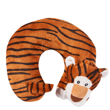 Load image into Gallery viewer, Cute Animals Memory Foam Travel Neck Pillow - Tiger