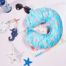 Load image into Gallery viewer, Coast Travel Pillow - Flamingo, Bon Voyage Memory Foam Cushion Neck Pillows Removable Washable Cover