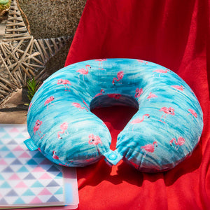 Coast Memory Foam Travel Neck Pillow - Flamingo