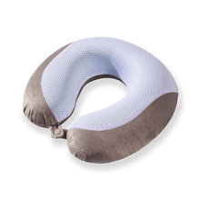 Load image into Gallery viewer, Gel Infused Travel Pillow - Grey, Gel Infused Memory Foam, Removable Washable Cover
