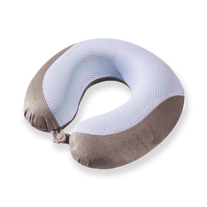 Gel Infused Memory Foam Travel Neck Pillow - Grey