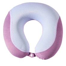 Load image into Gallery viewer, Gel Infused Memory Foam Travel Neck Pillow - Purple