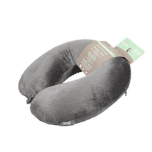 Load image into Gallery viewer, Classic Memory Foam Travel Neck Pillow - Grey