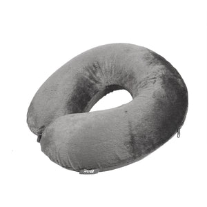Classic Memory Foam Travel Neck Pillow - Grey