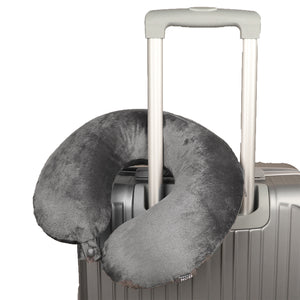Classic Travel Pillow - Grey, Bon Voyage Memory Foam Cushion Neck Pillows Removable Washable Cover