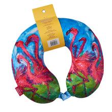 Load image into Gallery viewer, LEOMA Memory Foam Travel Neck Pillow - Flamingo