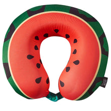 Load image into Gallery viewer, Watermelon Travel Pillow, Bon Voyage Memory Foam Cushion Neck Pillows Removable Washable Cover