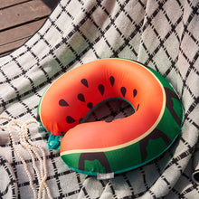 Load image into Gallery viewer, Watermelon Memory Foam Travel Neck Pillow
