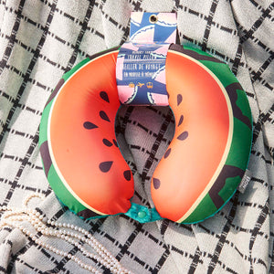 Watermelon Travel Pillow, Bon Voyage Memory Foam Cushion Neck Pillows Removable Washable Cover